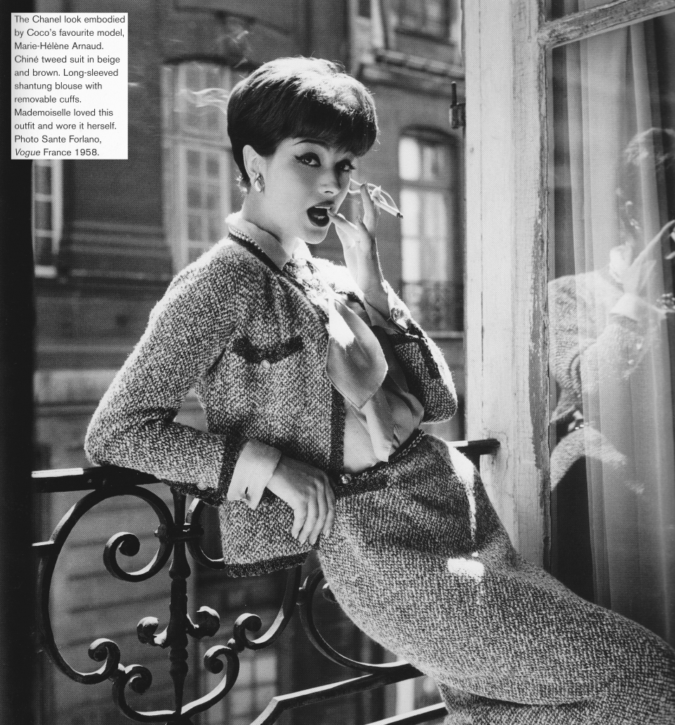 Chanel Vintage Fashion Photography: Marie Hélène Arnaud, Chanel Suit, Photo By Sante Forlano