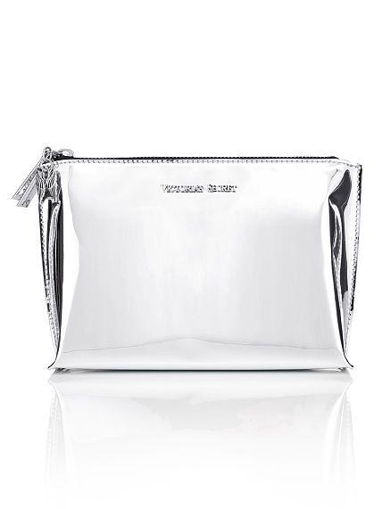 27abf4ac00 Holographic Large Makeup Bag- Victoria s Secret