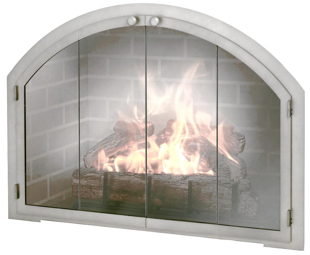 Natural Brushed Stainless Steel Arched Fireplace Door Fireplace Doors Stainless Steel Fireplace Fireplace