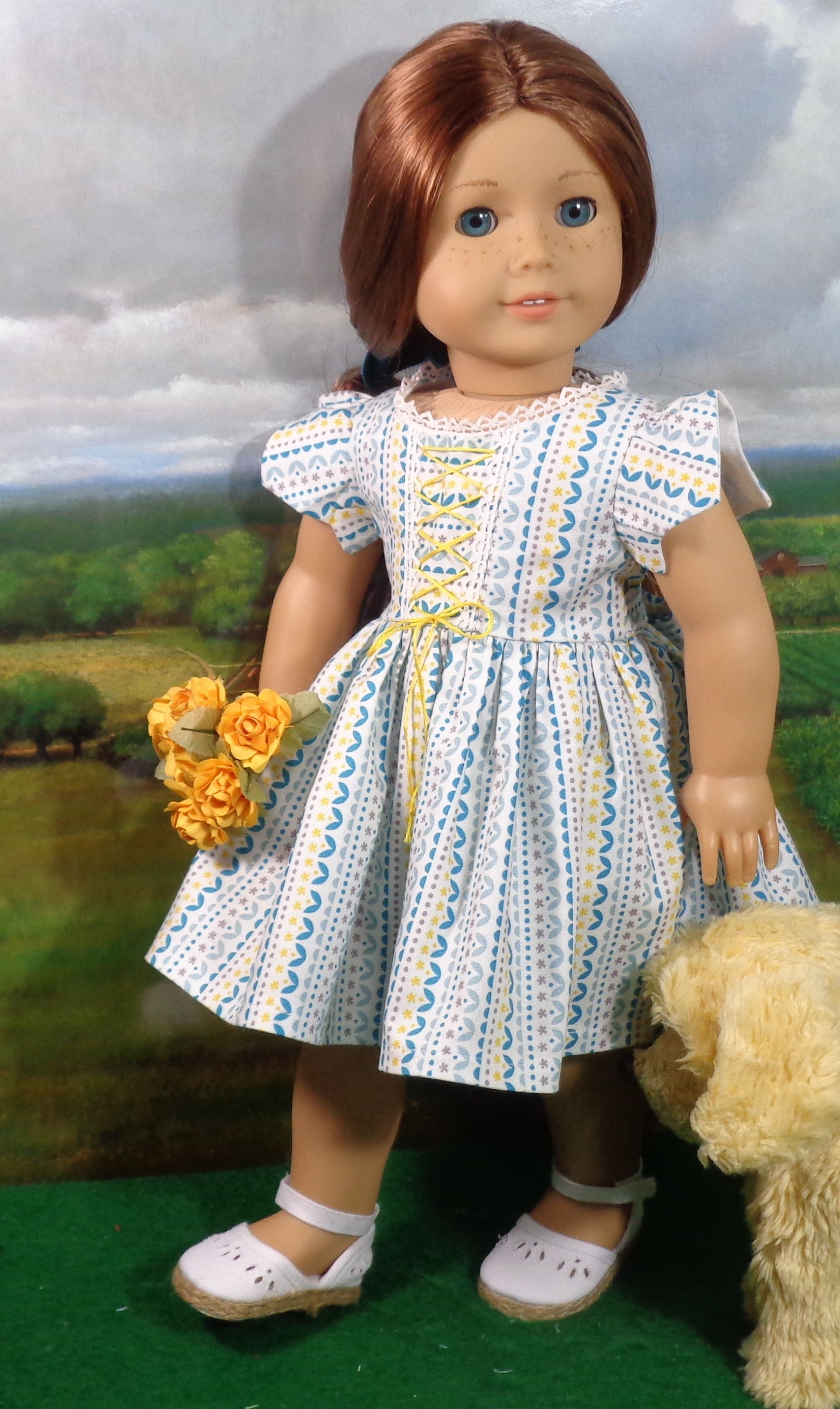 Turquoise & Yellow Sundress | Doll Clothes | Pinterest