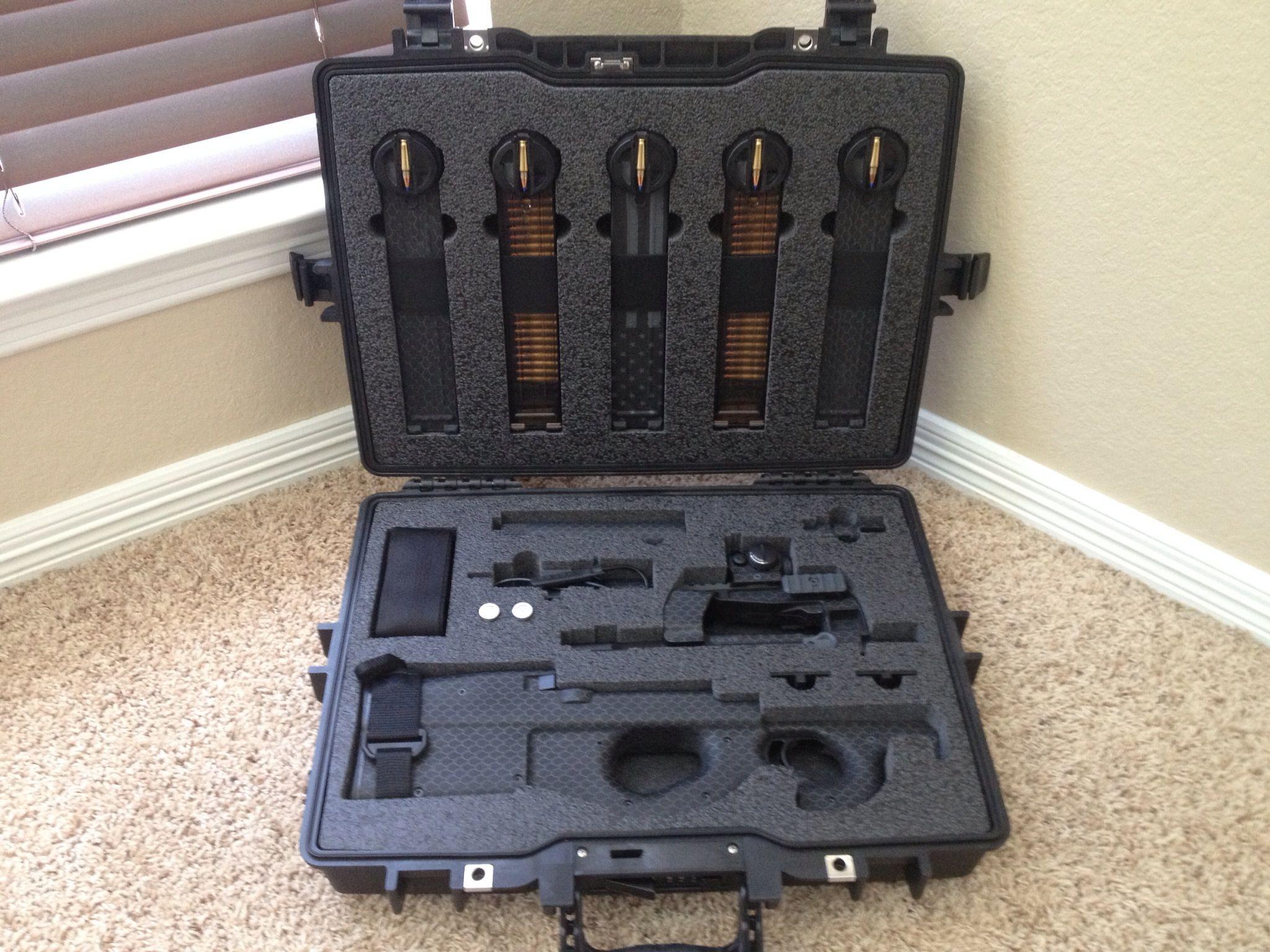 Ps90 Sbr In Custom Hard Gun Case Guns Ammo Amp Home
