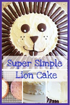Lion #cake recipe which is so simple, anyone can do it!