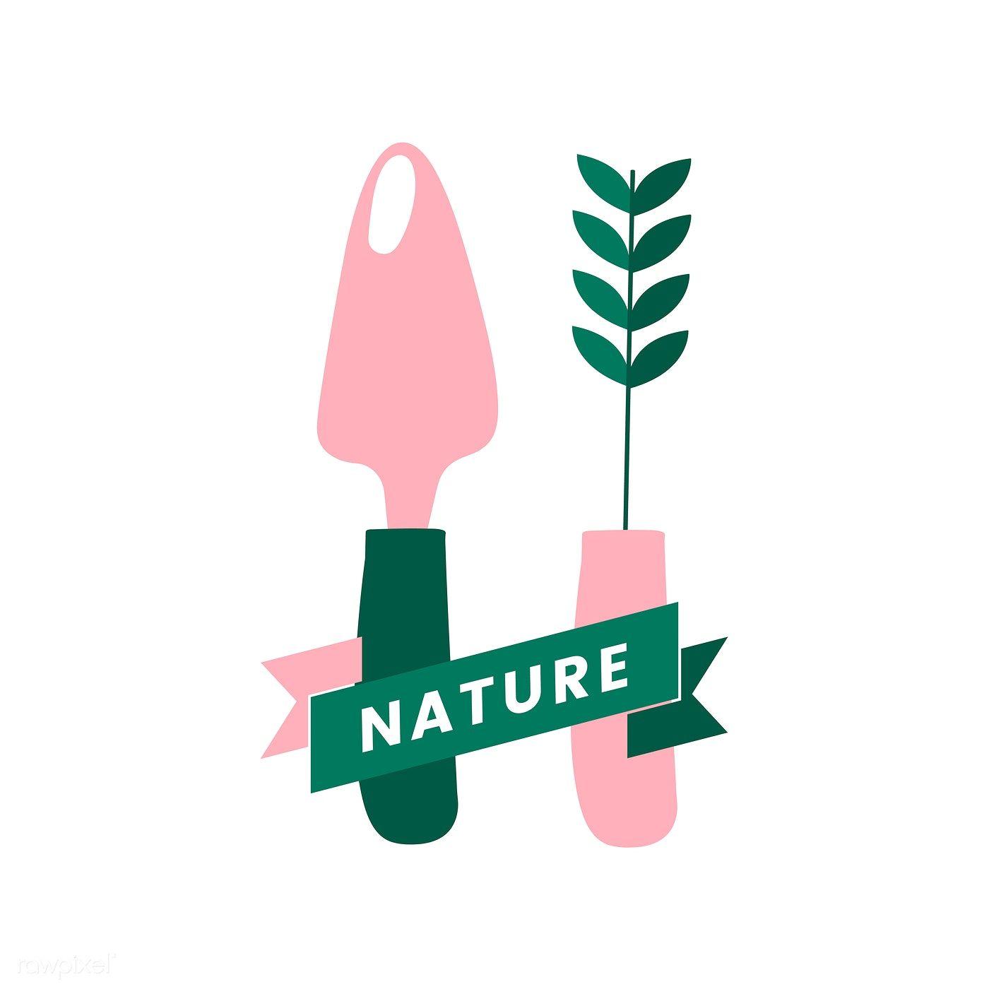 Logo of nature organic farming free image by rawpixel
