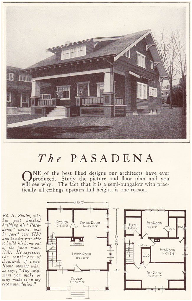 Pin By Luana Berger On House Exteriors Early 1900s Vintage House Plans Craftsman Style Homes Bungalow House Plans