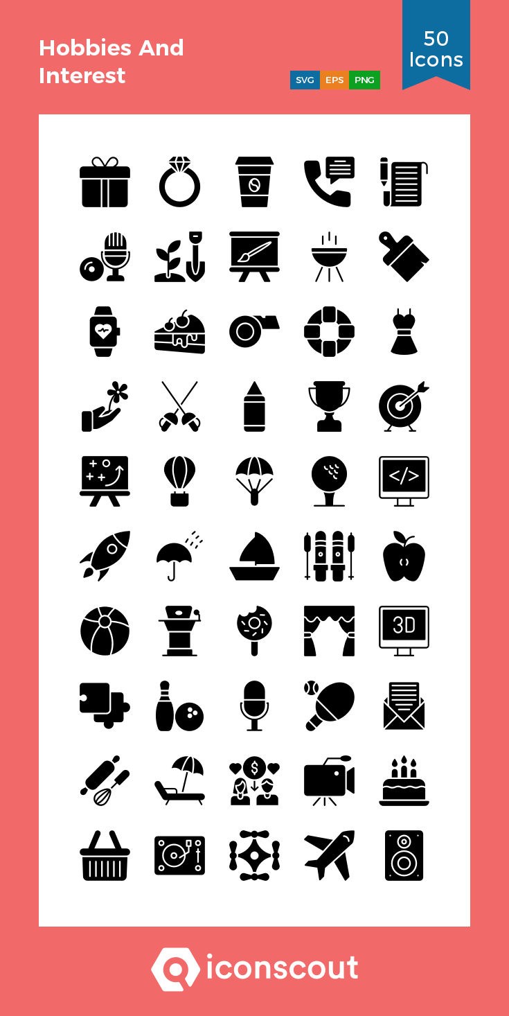 Download Hobbies And Interest Icon Pack Available In Svg Png Eps Ai Icon Fonts Hobbies And Interests Glyph Icon Interesting Things