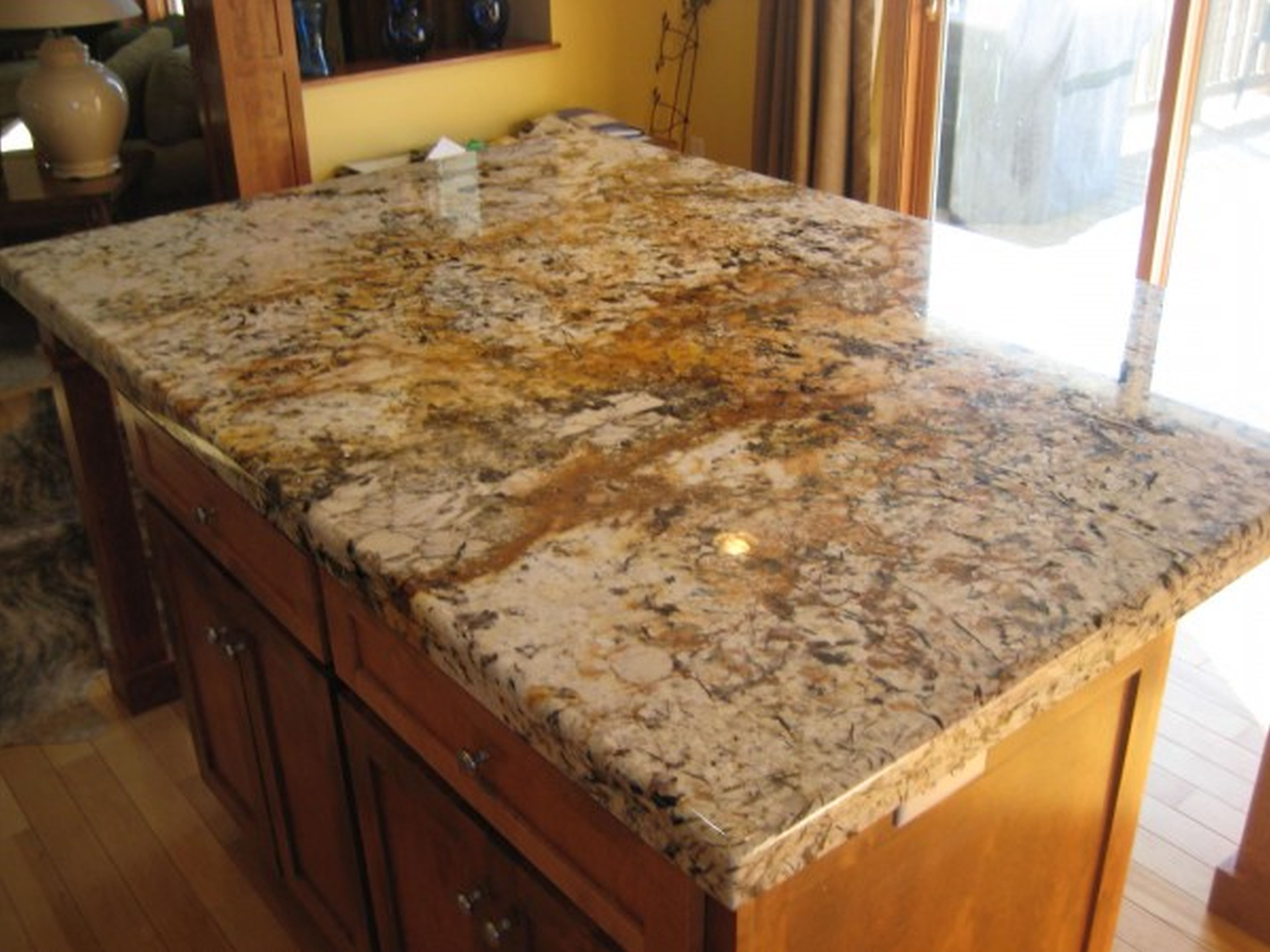 Kitchen Installed New Granite Stone Material For Countertops In