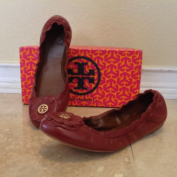 Tory Burch Sangria Flats Used Shelby Flat-Vintage Mestico Tory Burch Shoes Flats & Loafers