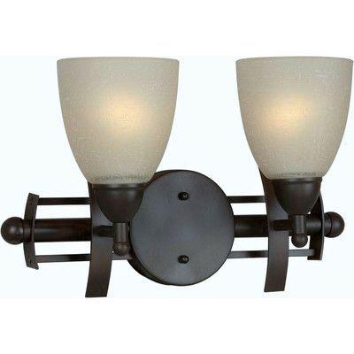 Forte Lighting Two Light Vanity Light Finish / Shade: