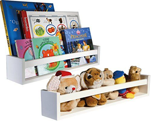 check out 3ac9b fdcbc Set of 2 Versatile Nursery Room Wall Shelves in White ...