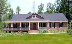 House Plan 64565 | Country Craftsman Traditional Plan with 2818 Sq. Ft., 4 Bedrooms, 4 Bathrooms, 3 Car Garage at family home plans