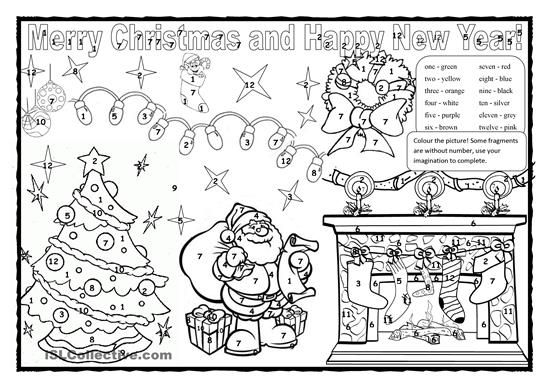 Esl Christmas Colouring Pages Best Quality Coloring  schede