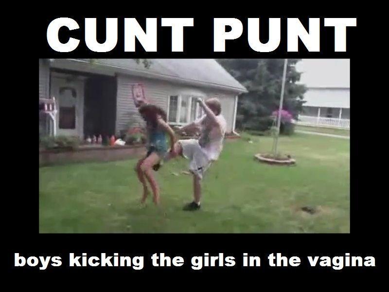 kicked in the vulva