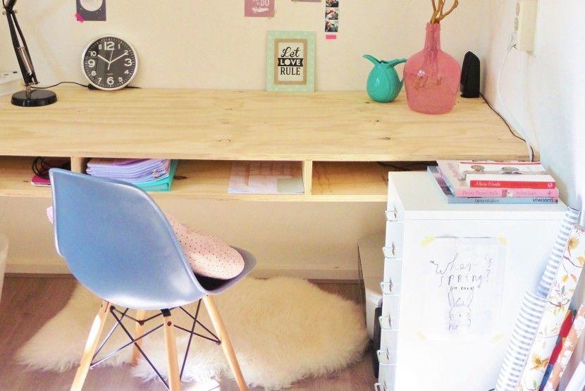 Diy bureau nienkes thuis moodboard puber jongen pinterest