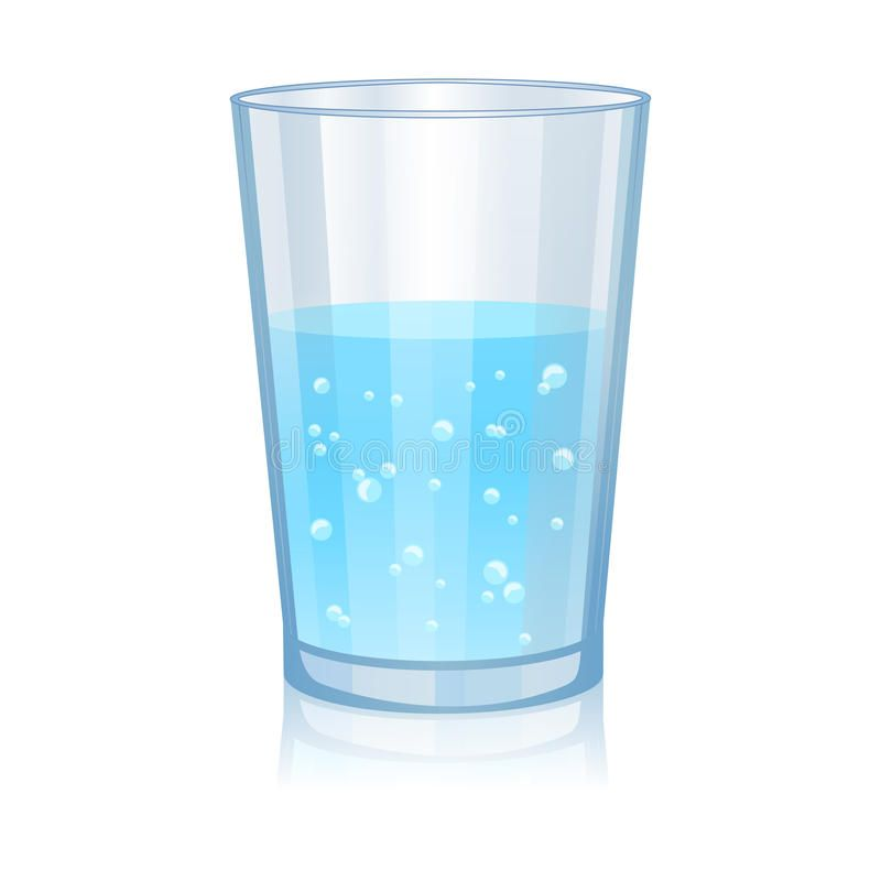 Glass With Water Isolated Vector Illustration On White Background Aff Isolated Water Glass Vector Ba Glass Water Illustration Vector Illustration