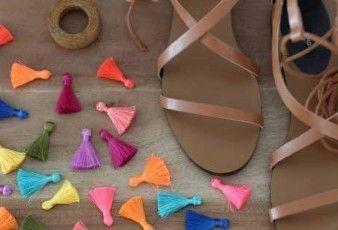 Yazlık Kolay Püsküllü Sandalet Yapılışı