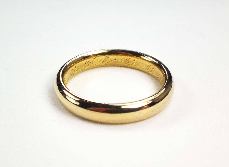 Vintage Wedding Band 18k Yellow Gold Wedding Band Gold Wedding Etsy Wedding Rings Vintage 18k Yellow Gold Wedding Band Wedding Rings