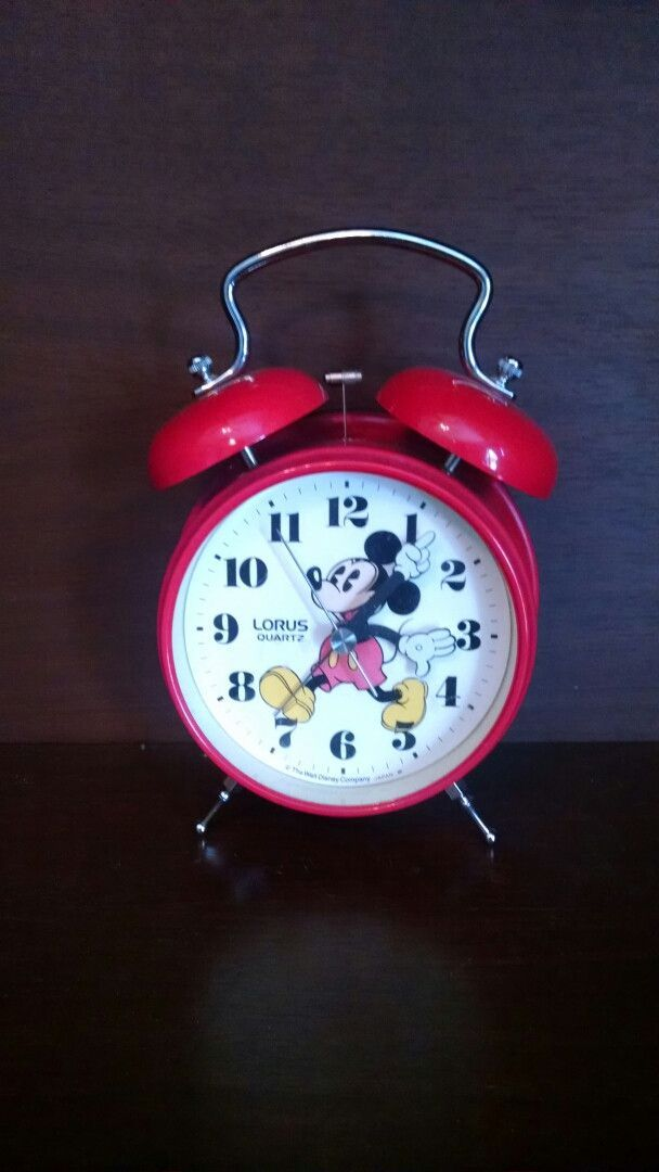 Quartz Mickey Mouse Alarm Clock