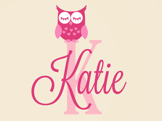 Owl Decal - Personalized Name Decal - Owl Name Decal ...