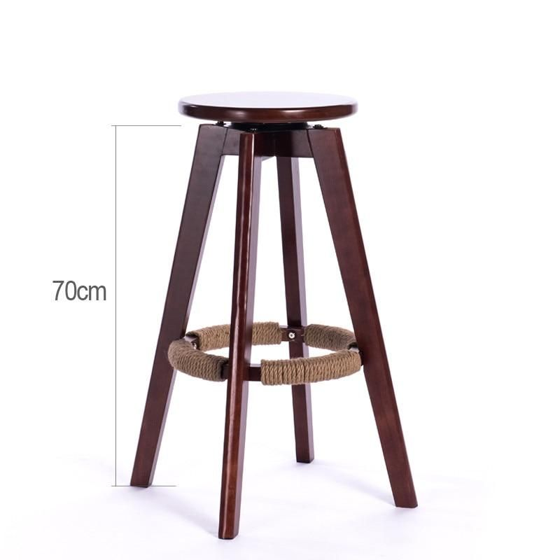 Wooden Bar Stools Swivel Round Seat Mahogany Natural Finish Indoor Mini Home Bar Kitchen Furniture Cafe With Images Cafe Bar Stools Wood Cafe Home Bar Furniture