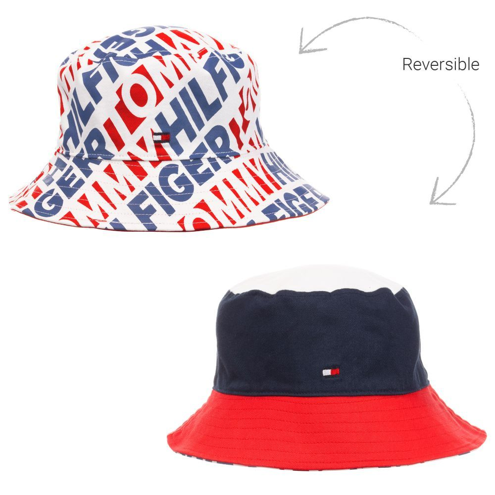537fa428e Unisex red, white and navy blue sun hat by Tommy Hilfiger, this ...