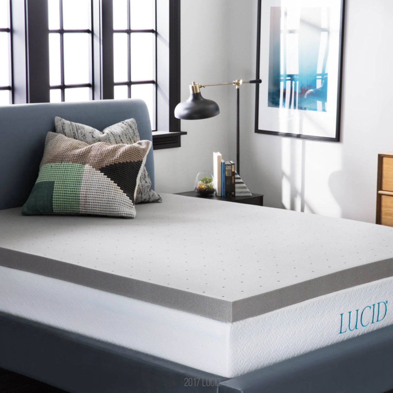 Lucid 3 In Bamboo Charcoal Memory Foam Mattress Topper Mattress Memory Foam Mattress Topper Bedding Basics