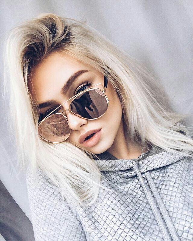 f082a37ec Rayban Sunglasses on | Sunglasses | Hair styles, Hair, Glasses