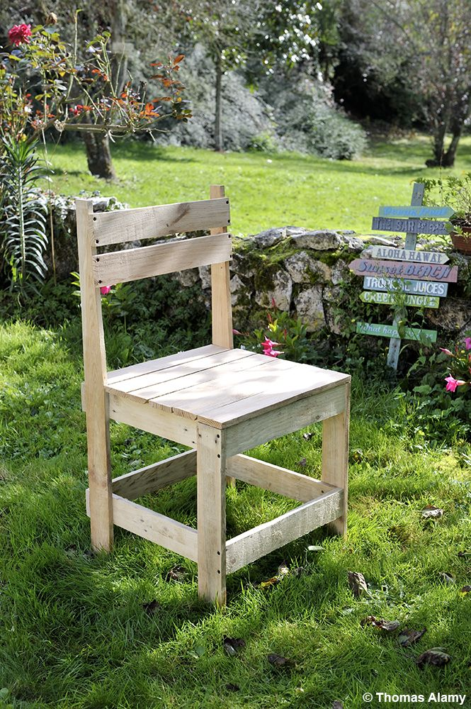 Fabriquez une chaise en palette | Brico/Déco | Pinterest | Mobilier ...