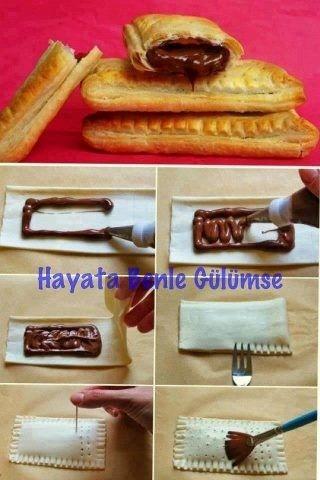 pastelitos dulces con relleno de chocolate