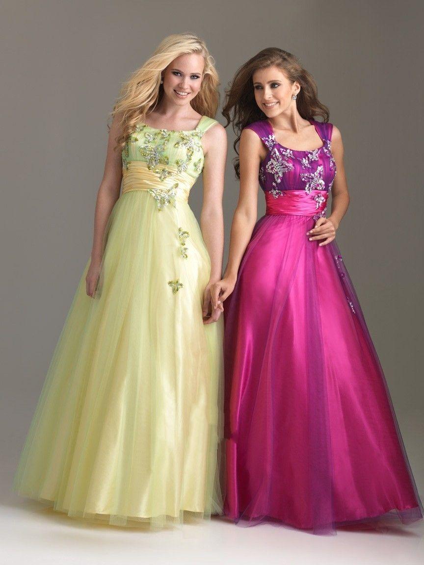 Organza applique straps colorful prom dress favorite prom dresses
