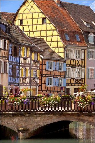 colmar quai de la poissonnerie old villages small towns frankreich elsass und colmar. Black Bedroom Furniture Sets. Home Design Ideas