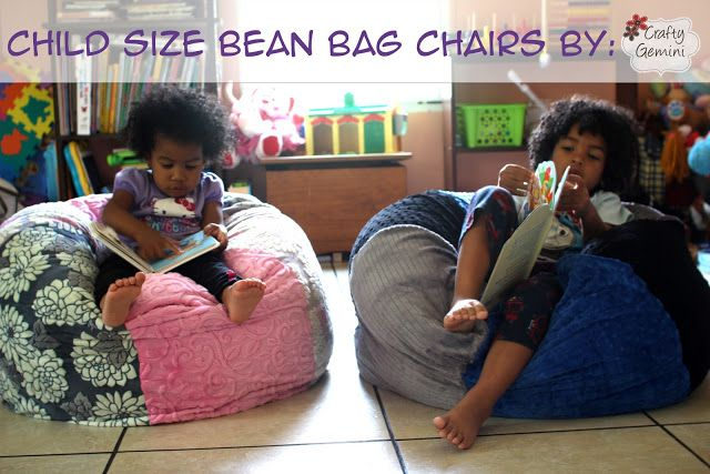 Tremendous Crafty Gemini Child Size Bean Bag Chair Diy Video Tutorial Ocoug Best Dining Table And Chair Ideas Images Ocougorg
