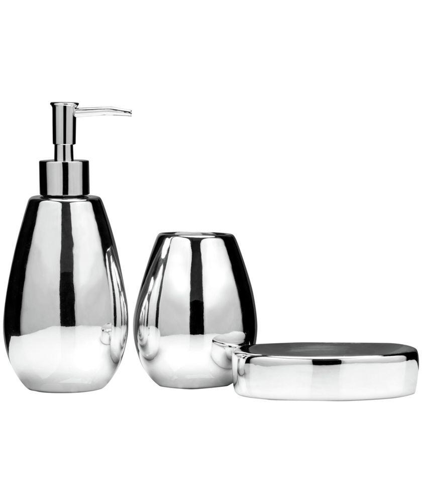 Buy Premier Housewares Magpie 3 piece Dolomite Bathroom Set at Argos ...