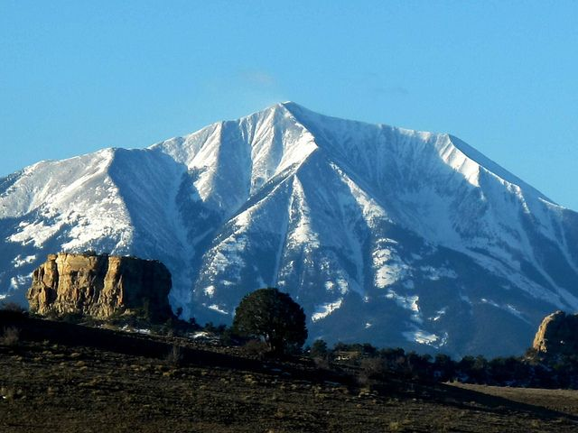 Snow covered San Francisco Peaks. Photos by Carra Riley