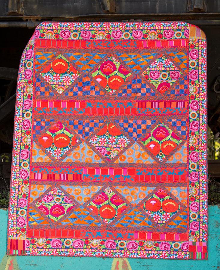 Kaffe Fassett Quilt Cotton Anniversary Gift Modern Throw Quilt Homemade Quilt Colorful Quilt Boho Quilt Quilt For Mom Modern Lap Quilt In 2020 Boho Quilt Colorful Quilts Kaffe Fassett Quilts