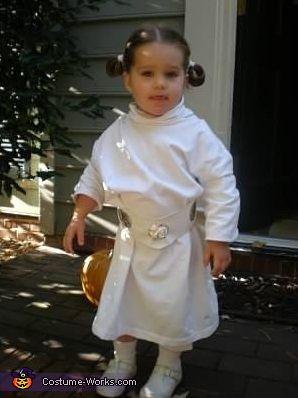 Baby Princess Leia homemade costume