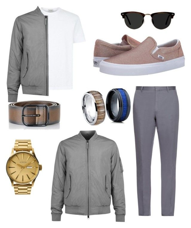 """"""""""" by nimotalai on Polyvore featuring Vans, Burberry, Diesel, Ace, Nixon, Topman, men's fashion, menswear and slipons"""