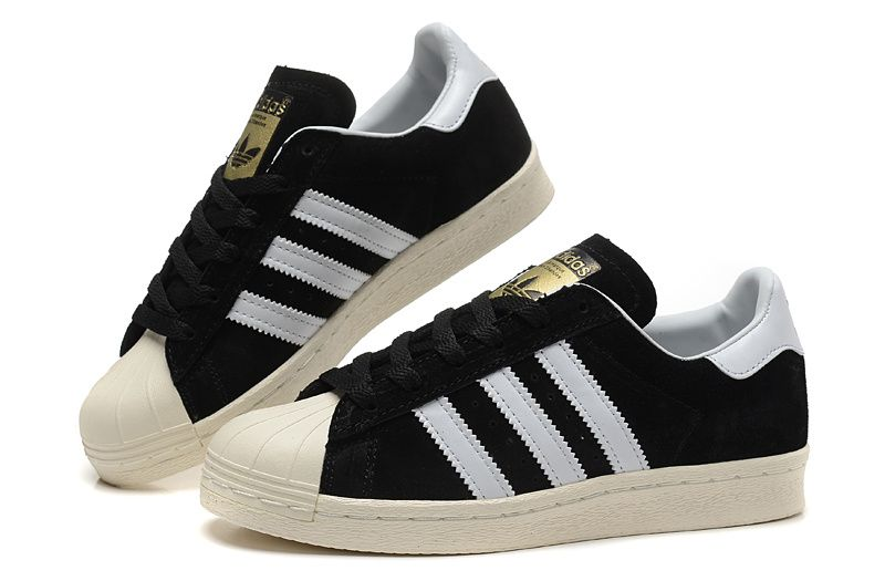 superstar adidas womens white and black