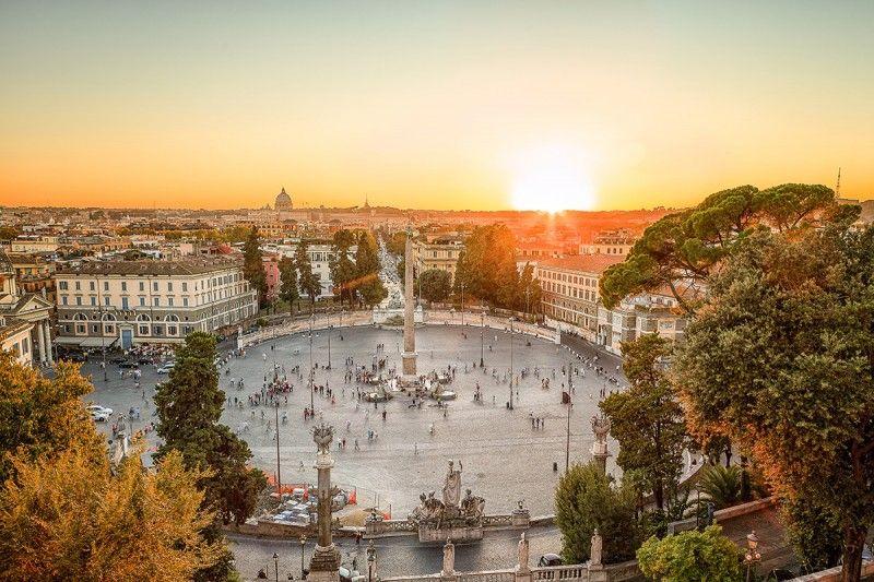 Terrazza Del Pincio Rome Italy Roma Città Del
