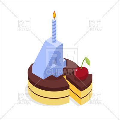 4 years birthday cake isometrics 130972 download royalty free rh pinterest com