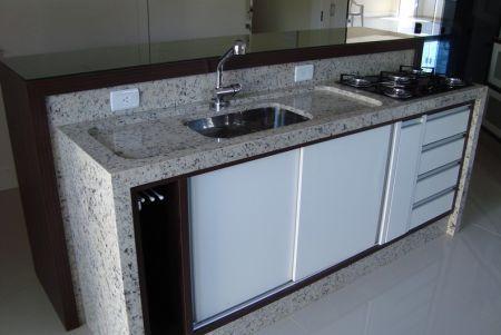 Pias de granito para cozinhas - Fotos Pia granito cozinha, Pias e