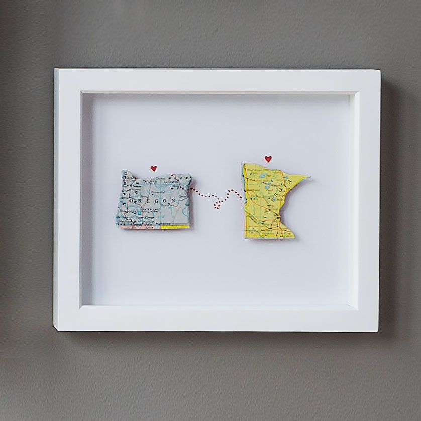 States In Love | Framed Puzzle Pieces | Puzzle pieces and Products