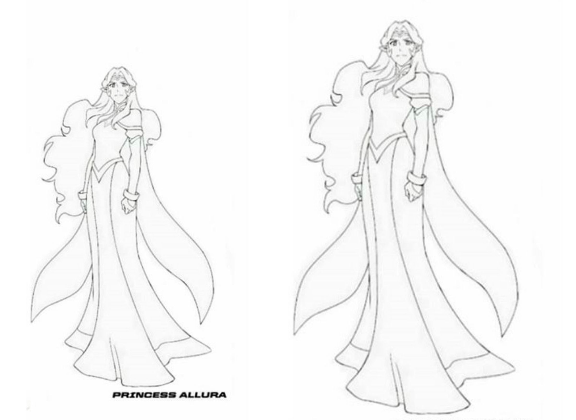 Princess Allura Voltron Legendary Defender Coloring Page Voltron