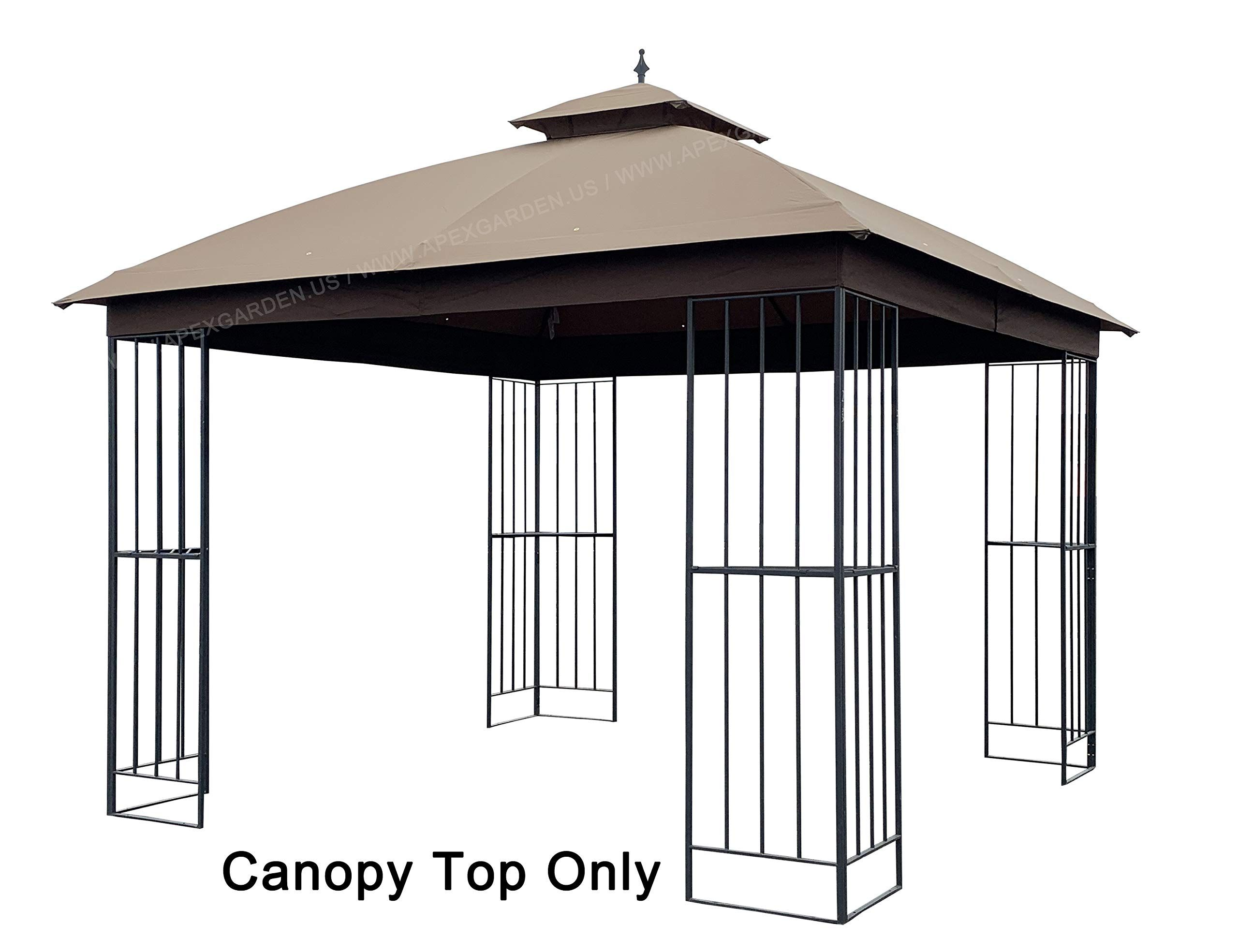 Sunjoy Black Steel Square Gazebo Exterior 10 89 Ft X 10 89 Ft Foundation 10 Ft X 10 Feet Lowes Com Gazebo Sale Gazebo Permanent Gazebo
