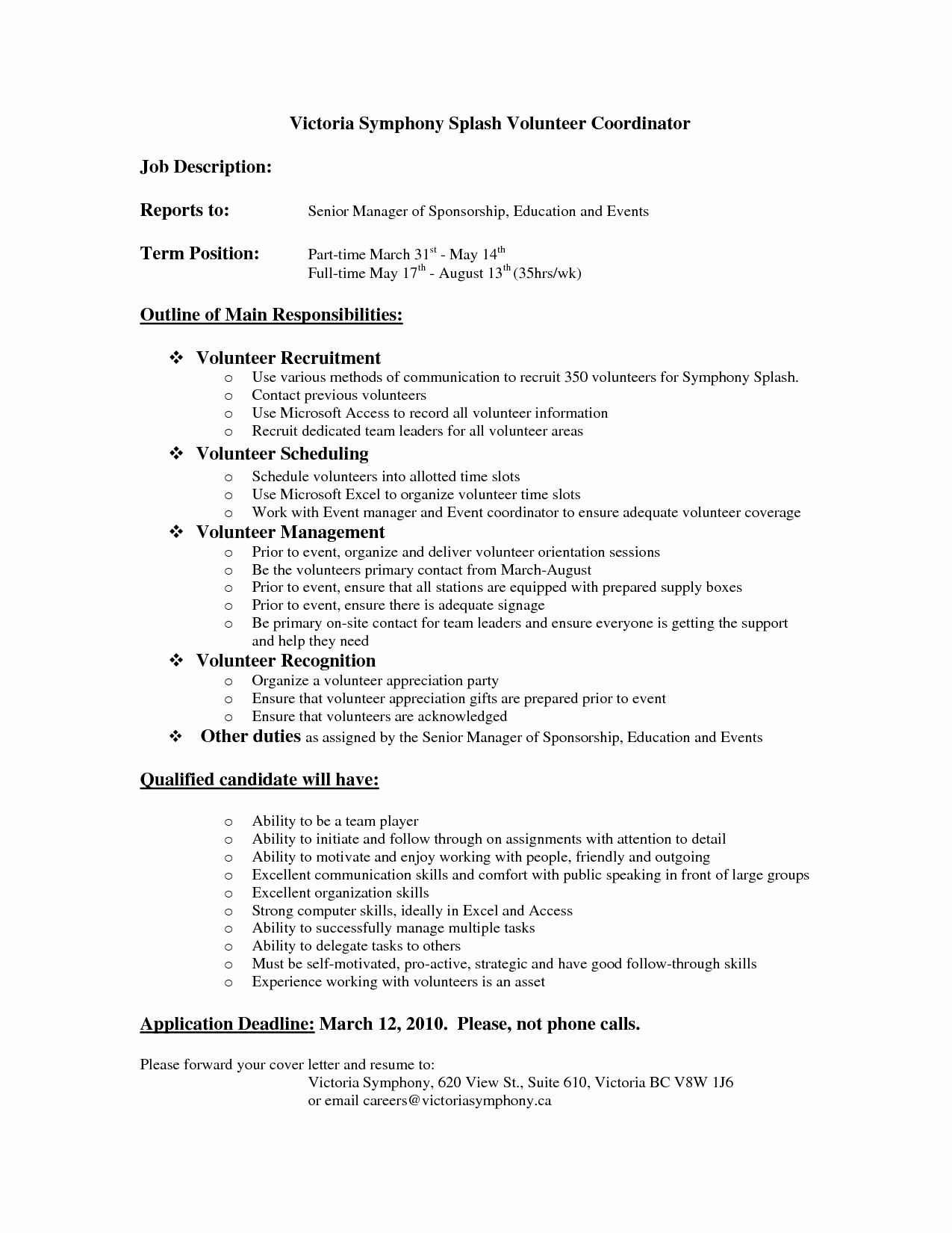 volunteer work examples for resume awesome best s of