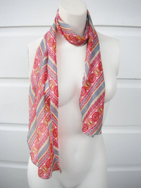 15 OFF SALE 1960s hair scarf with an by ArieleSierraDesigns, $8.99