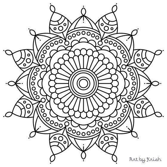 106 printable intricate mandala coloring pages by krishthebrand - Intricate Coloring Pages Kids