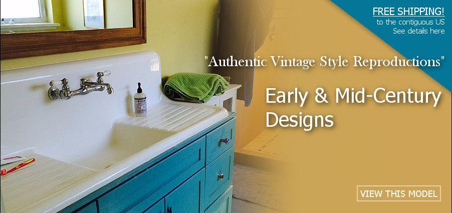 Vintage Inspired Farmhouse Drainboard Sinks | Sink, Wall ...