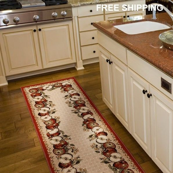 Dining Room APPLE Area Olefin Runner Rug Carpet Floor Dinning ...
