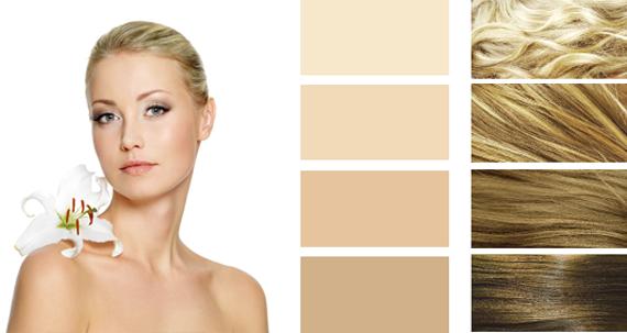 Цветотип внешности «весна» Девушки, относящиеся к цветотипу «весна», отличаются светлой полупрозрачной кожей мягких розоватых или персиковых оттенков, довольно часто покрытой веснушками золотисто-коричневого оттенка. Кожа девушки-весны при волнении иногда покрывается красными пятнами, загорает достаточно легко, однако загар часто приобретает красноватый оттенок.