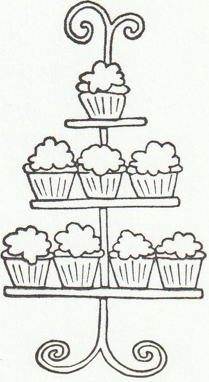 Cake Stand Stamp Crafts Scrap